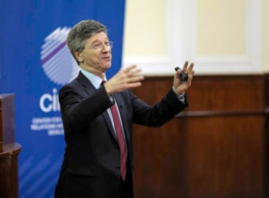 Jeffrey Sachs delivers lecture at the Faculty of Law in Belgrade